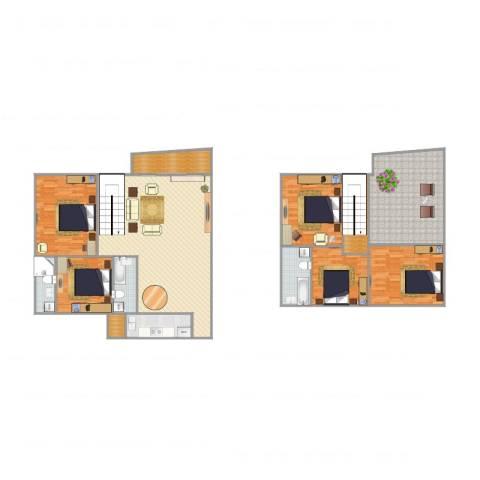 广州碧桂园丽苑5室1厅3卫1厨219.00㎡户型图