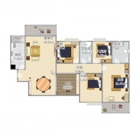 远景家园5室1厅2卫1厨197.00㎡户型图