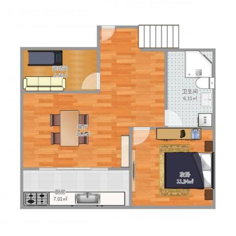 大华锦绣华城第16街区51号1021室1厅1卫1厨72.00㎡户型图