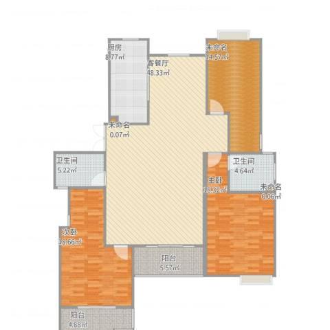 丽岛华都2室1厅5卫1厨173.00㎡户型图