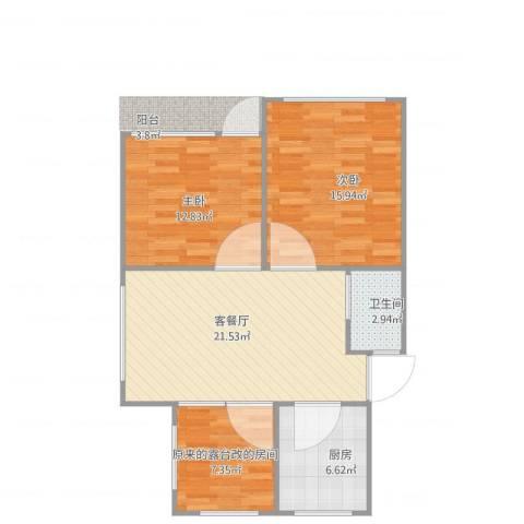 周东二村66号601室2室1厅1卫1厨90.00㎡户型图