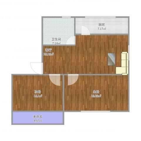 银都花园2室1厅1卫1厨105.00㎡户型图
