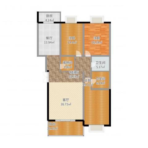 汤泉逸墅3室1厅2卫1厨194.00㎡户型图