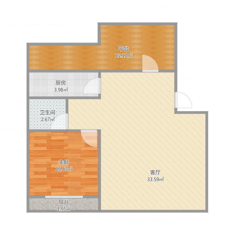 中华绿园1室户型图