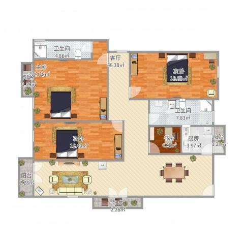 碧桂园荔园4室1厅2卫1厨180.00㎡户型图