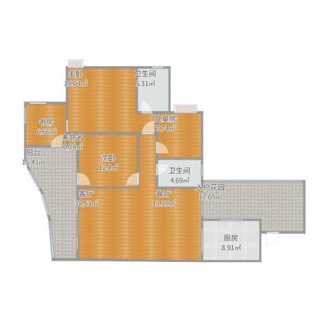 天高鸿苑4室1厅2卫1厨182.00㎡户型图