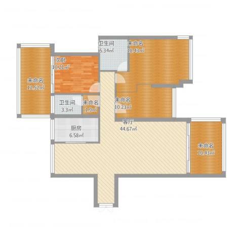 义乌荷塘月色李总1室1厅2卫1厨175.00㎡户型图