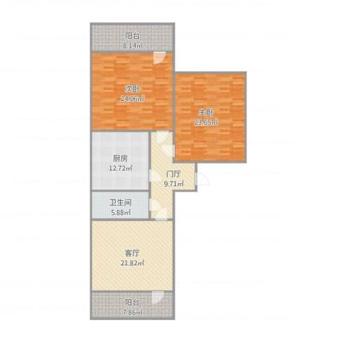 玉函小区2室1厅1卫1厨152.00㎡户型图