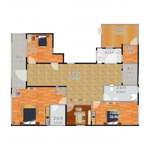 绿城玫瑰园4室1厅4卫2厨232.00㎡户型图