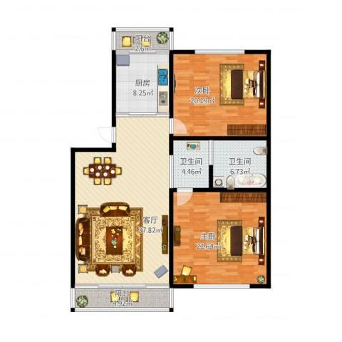 天通苑东一区2室1厅2卫1厨149.00㎡户型图