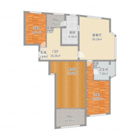 香梅花园五期2室1厅1卫1厨200.00㎡户型图