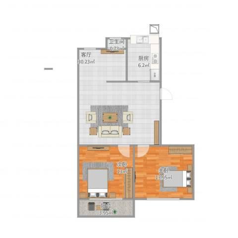 新泾苑2室1厅1卫1厨91.00㎡户型图