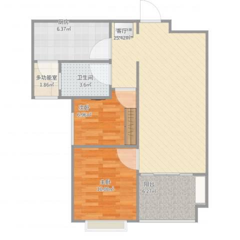 恒大城2室1厅1卫1厨82.00㎡户型图