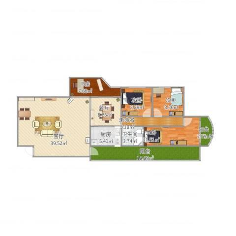 太升大厦C14室2厅1卫1厨156.00㎡户型图