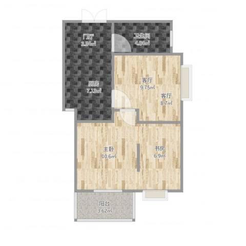 恒大华城天地苑1室1厅1卫1厨61.00㎡户型图