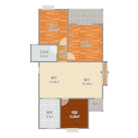 新城域1083室1厅1卫1厨137.00㎡户型图