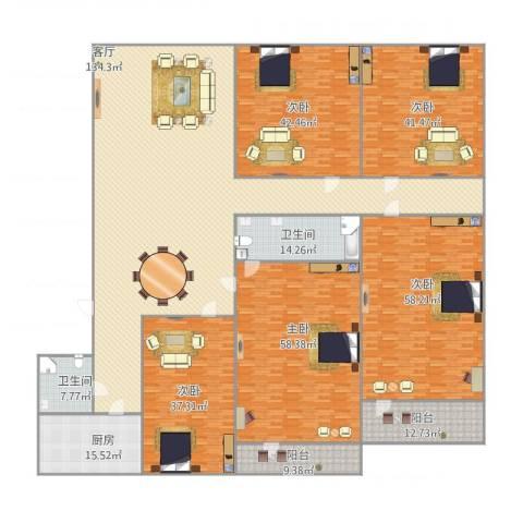 龙岱花园5室1厅2卫1厨562.00㎡户型图