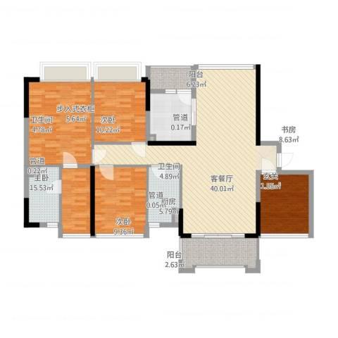 合正上东国际三期4室1厅2卫1厨162.00㎡户型图