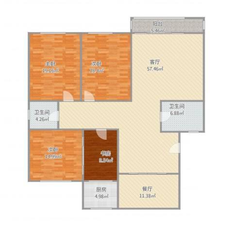 南华园小区4室2厅2卫1厨203.00㎡户型图