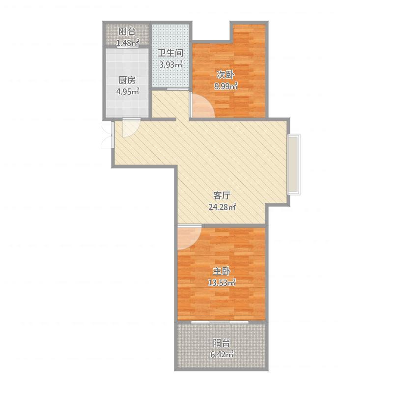 76平两室一厅