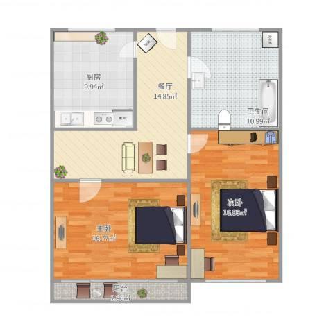 CITY1552室1厅1卫1厨98.00㎡户型图
