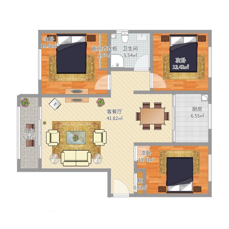 致臻园沈风雷先生116坪三室两厅一卫