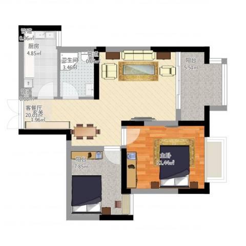 大唐世纪豪庭1室1厅1卫1厨78.00㎡户型图