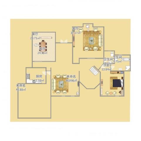 泰晤士小镇公寓1室2厅2卫1厨298.00㎡户型图