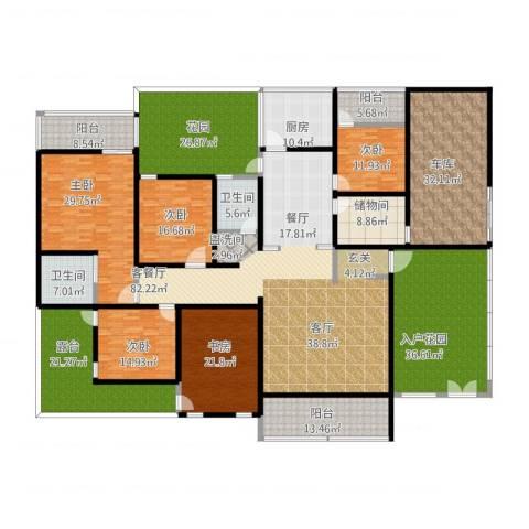 重百小区5室1厅2卫1厨395.01㎡户型图