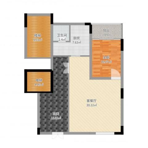 永宏佳园1室1厅1卫1厨118.00㎡户型图