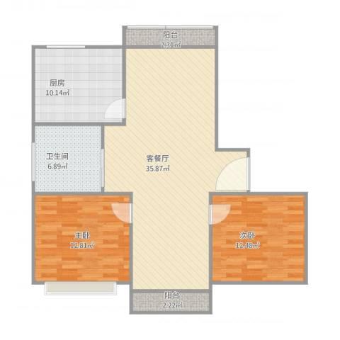 丰水宝坻西苑2室1厅1卫1厨111.00㎡户型图