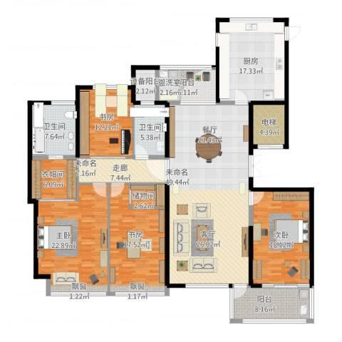 ART蓝海4室1厅6卫1厨262.00㎡户型图