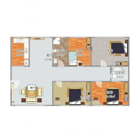 招商海德名门4室1厅2卫1厨171.00㎡户型图