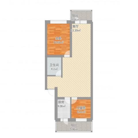 电业小区2室1厅1卫1厨101.00㎡户型图