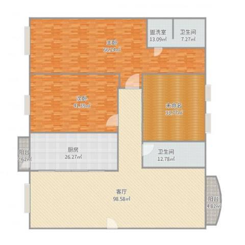 丽景花园2室2厅1卫1厨392.00㎡户型图