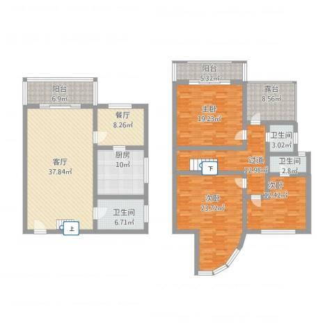禾祥商城3室2厅3卫1厨232.00㎡户型图