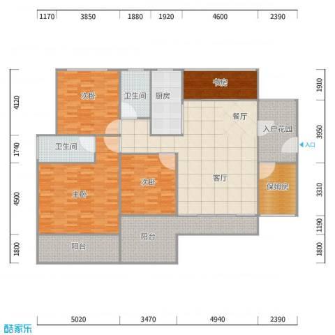 天寿大厦167方户型图