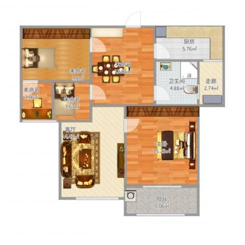 金域华府1室1厅1卫1厨106.00㎡户型图