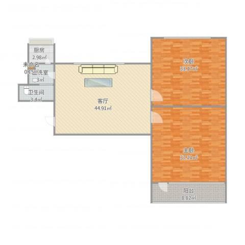 义堂小区162室2厅1卫1厨176.00㎡户型图