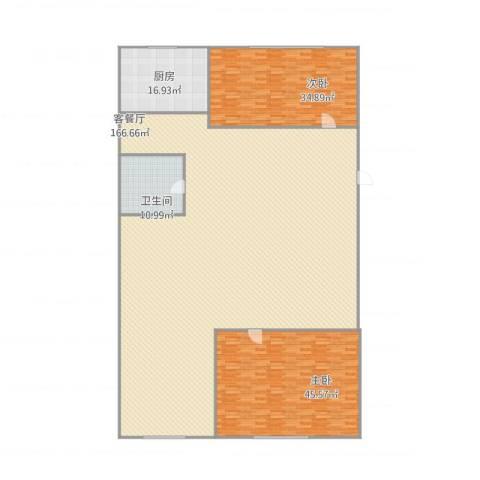 泥洼路5号院2室1厅1卫1厨355.00㎡户型图