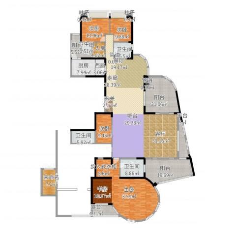 世纪绿洲4室1厅4卫1厨412.00㎡户型图