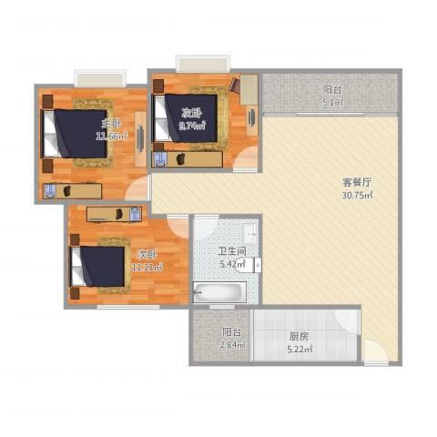 日高卡卡10座4013室1厅1卫1厨110.00㎡户型图