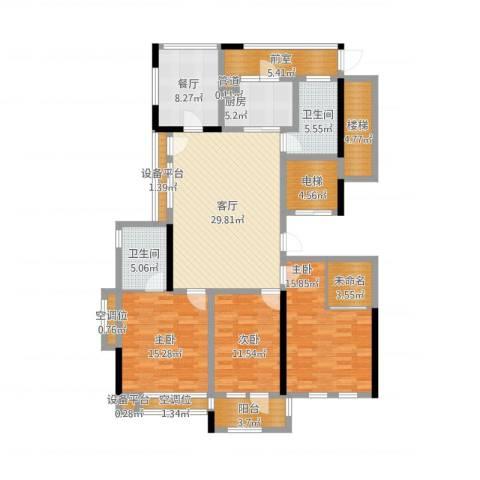 城泰湖韵天成4室4厅8卫1厨181.00㎡户型图