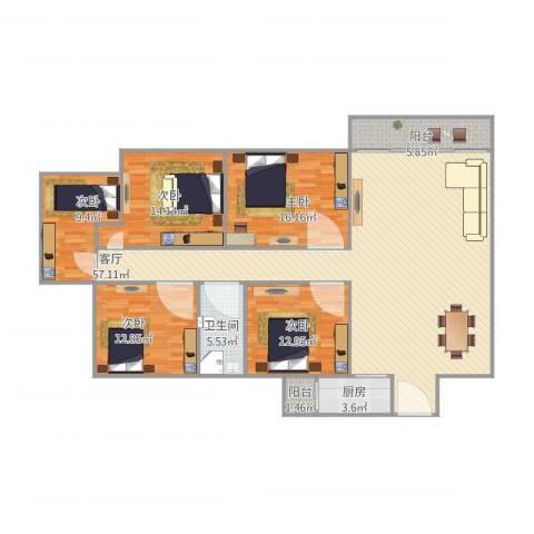 嘉禾新城5室1厅1卫1厨186.00㎡户型图