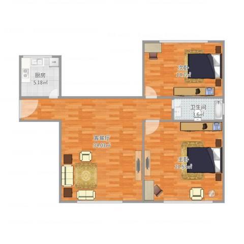 莲鼎苑14号4012室1厅1卫1厨84.00㎡户型图