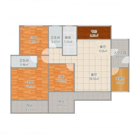 天寿大厦167方户型图4室1厅2卫1厨209.00㎡户型图