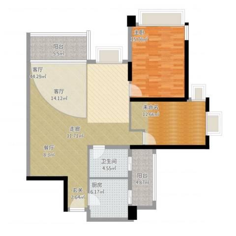 雅居乐世纪新城1室1厅1卫1厨132.00㎡户型图