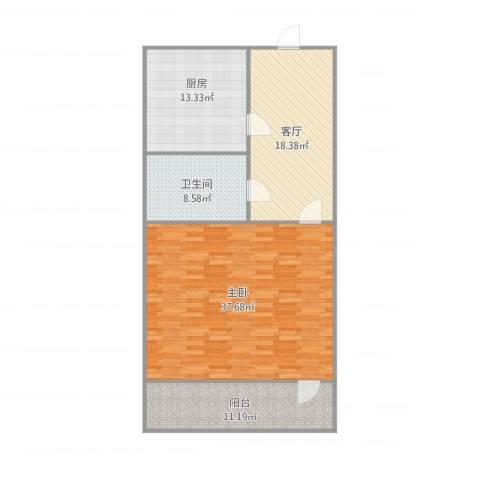 玉函小区1室1厅1卫1厨118.00㎡户型图