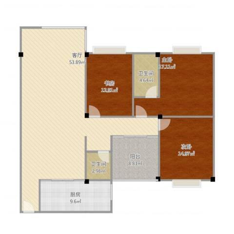 文苑小区3室1厅2卫1厨167.00㎡户型图