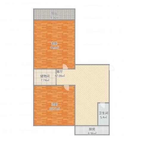 鑫泉花园2室1厅1卫1厨165.74㎡户型图